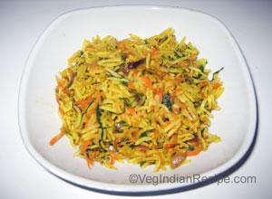 Spinach Carrot Pulav Recipe